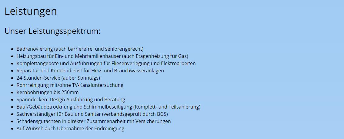 Leistungen: Badumbau für  Herxheim am Berg