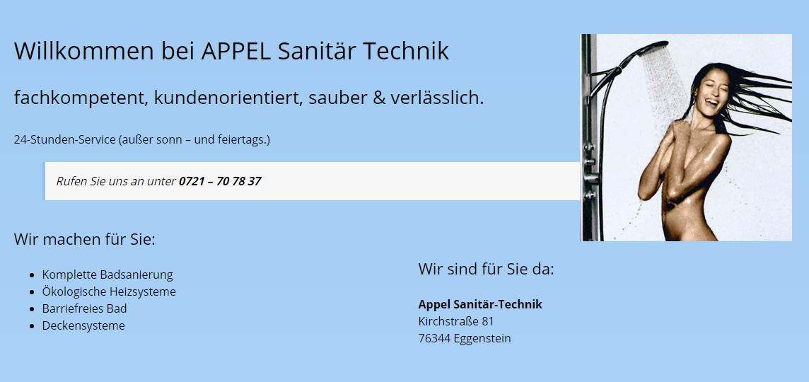Badsanierung in Herxheim am Berg - APPEL Sanitär Technik: Badumbau, Badrenovierung, Bautrocknungen, Schimmelsanierung, Sachverständiger für Bau, Sanitär